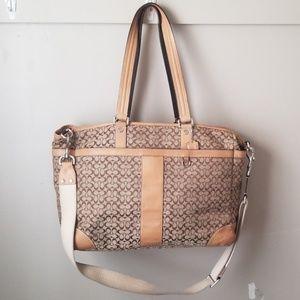 Coach XL tote bag signature crossbody strap